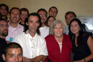 Margherita Hack insieme ad alcuni soci del Gruppo Astrofili Persicetani